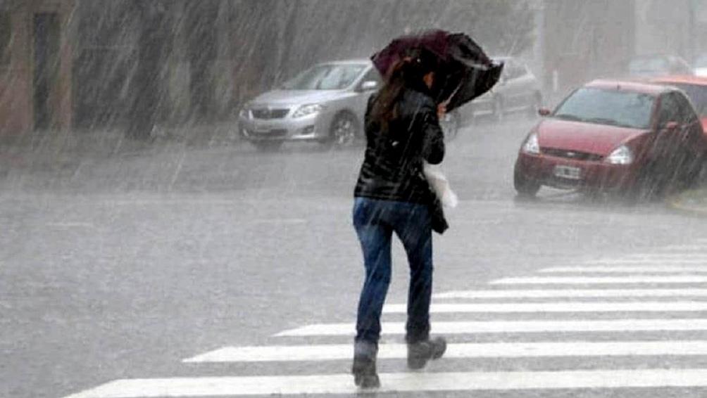 Alerta de tormentas del Servicio Meteorológico nacional