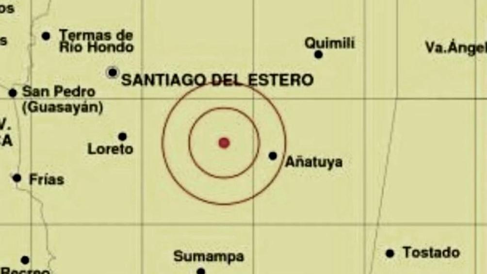 Este movimiento tuvo como epicentro las sierras de Guasayán