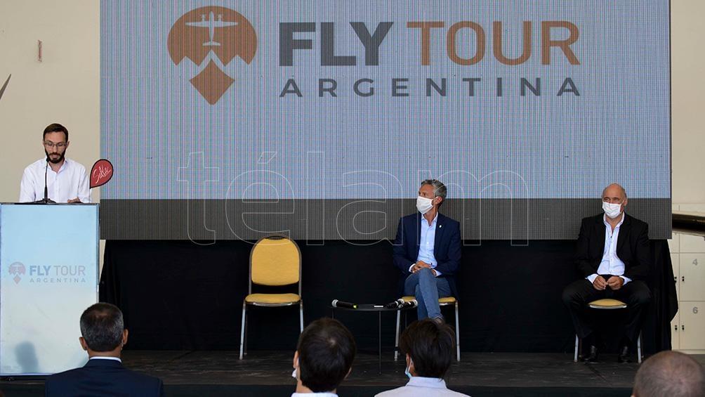 El acto fue encabezado por el ministro de Turismo y Deportes salteño, Mario Peña, junto a empresarios del sector