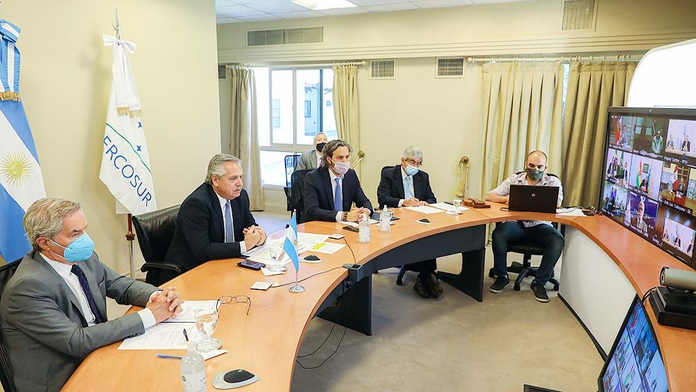 Argentina recibió la presidencia pro témpore del bloque regional para ejercerla durante el primer semestre de 2021.
