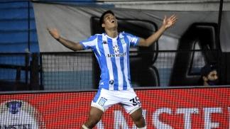 Melgarejo, el autor del gol en Avellaneda.