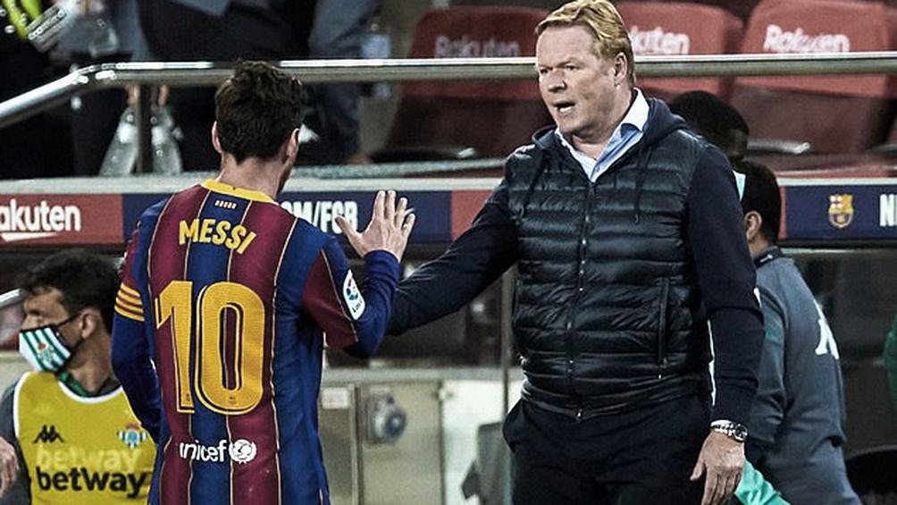 """Koeman: """"Pero no sólo Messi debe estar a su mejor nivel, todo el equipo tienen que estarlo""""."""