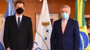 """Solá y el nuevo embajador de Brasil acordaron encarar los """"desafíos comunes"""""""
