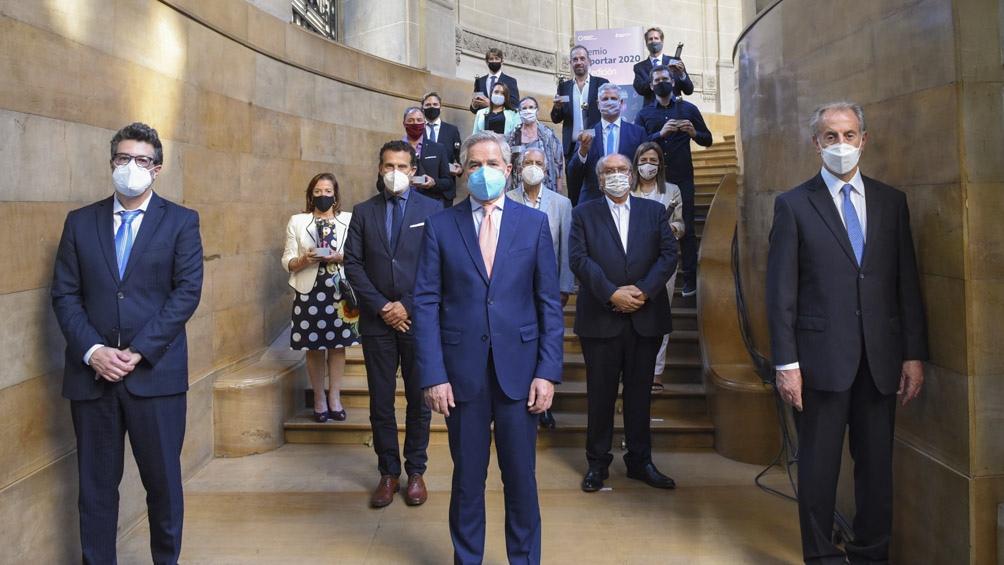 """El ministro destacó la creación por parte de la Cancillería del """"Consejo Público Privado para la promoción de exportaciones""""."""