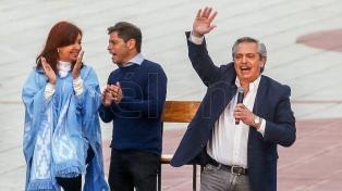 Alberto y Cristina acompañarán a Kicillof en el acto de balance de gestión