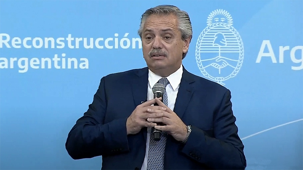 Alberto Fernández agradeció a los trabajadores sociocomunitarios que trabajaron durante la pandemia.