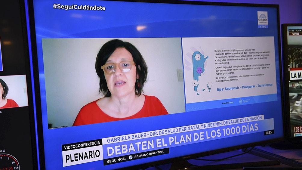 Gabriela Bauer, directora de Salud Perinatal y Niñez, del Ministerio de Salud