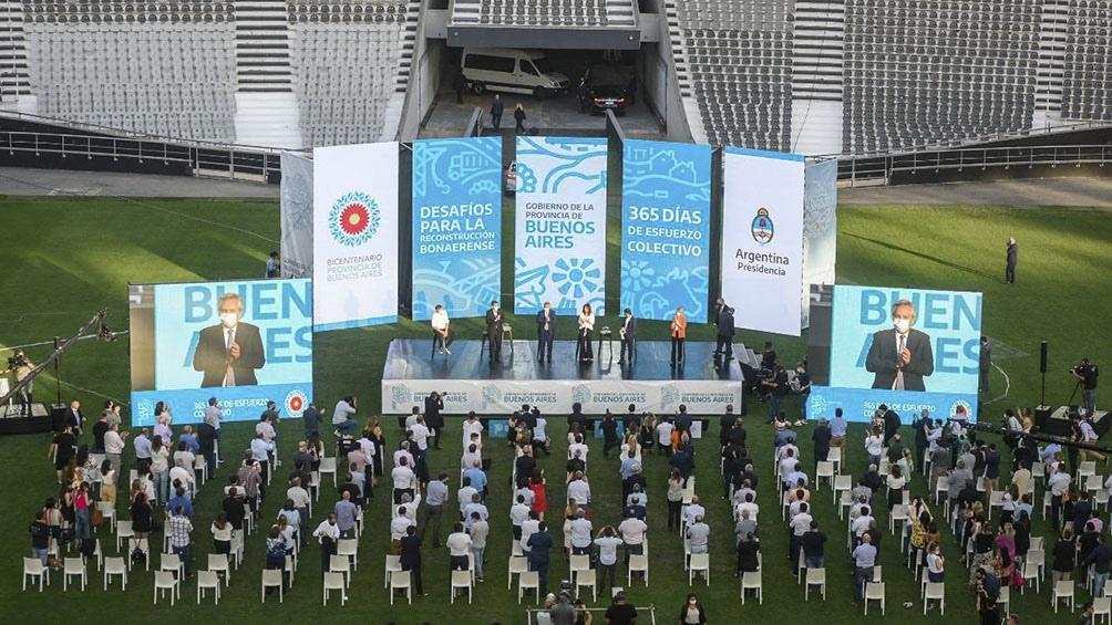 Acto en el Estadio Único de La Plata.