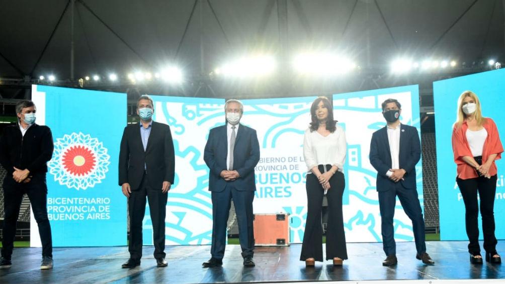 El acto en el Estadio Único de La Plata.