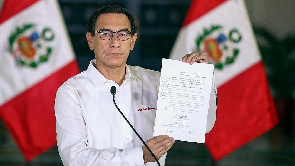 Vizcarra dijo la semana pasada que la fiscalía es parte de un intento de sacarlo de carrera electoral.