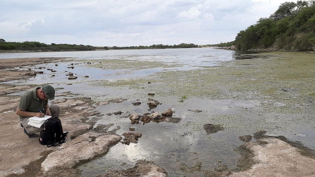 Los dos restos, un sacro y un hueso largo, fueron encontrados por un joven santiagueño, David Melián en la zona del río Dulce.