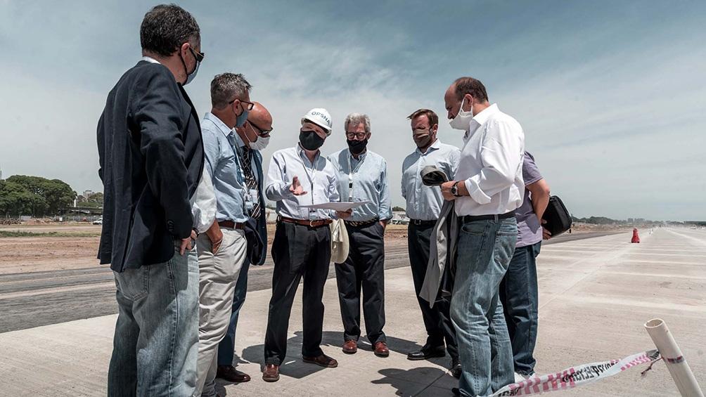 Télam compartió la recorrida de las obras con funcionarios nacionales y porrteños.