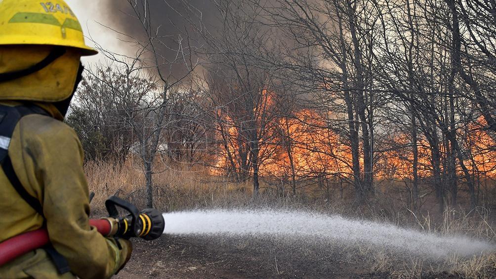 En Mendoza el fuego fue controlado.