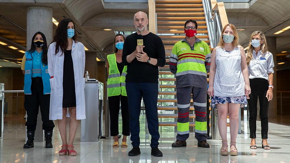 Las declaraciones de Rodríguez Larreta se dieron durante un acto en la sede de Gobierno porteño