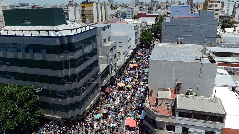 Un escenario similar al que se puede observar desde el lunes en Flores, se registró el fin de semana pasado en la feria de La Salada