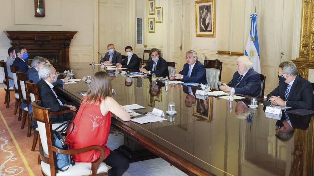 La reunión del Comité de Vacunación en Casa Rosada
