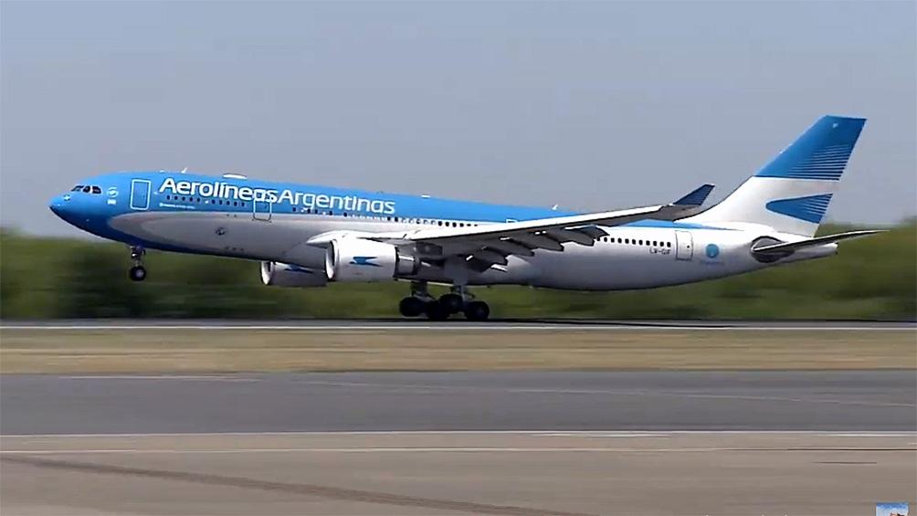 El vuelo AR1060 tocó tierra argentina a las 10.25.