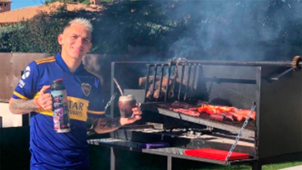 Un futbolista del Atlético Madrid y un guiño a Boca