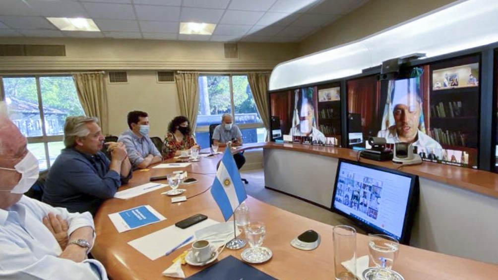Reunión del presidente Alberto Fernández con los gobernadores.