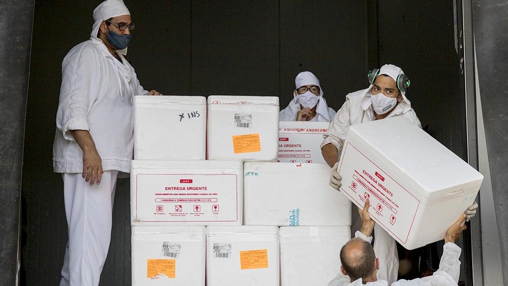 Distribución de las vacunas Sputnik V en Río Negro.