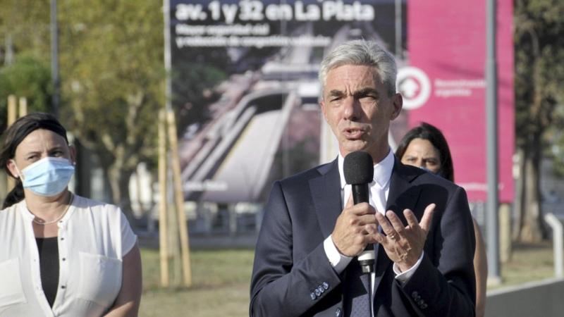 Meoni inauguró un paso bajo nivel en la ciudad de La Plata