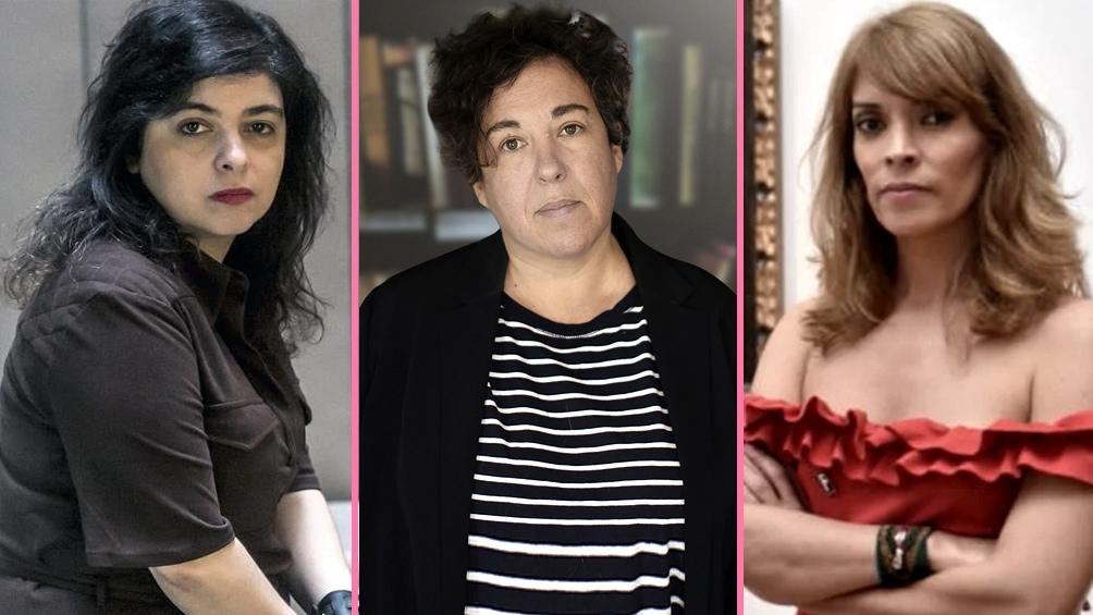 Las protagonistas de las letras 2020: Enriquez, Sosa Villada y Cabezón Cámara.