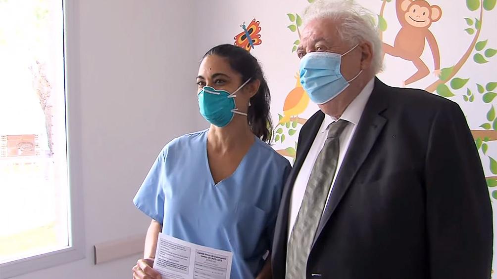 En ministro de Salud, en el inicio de la campaña de vacunación.