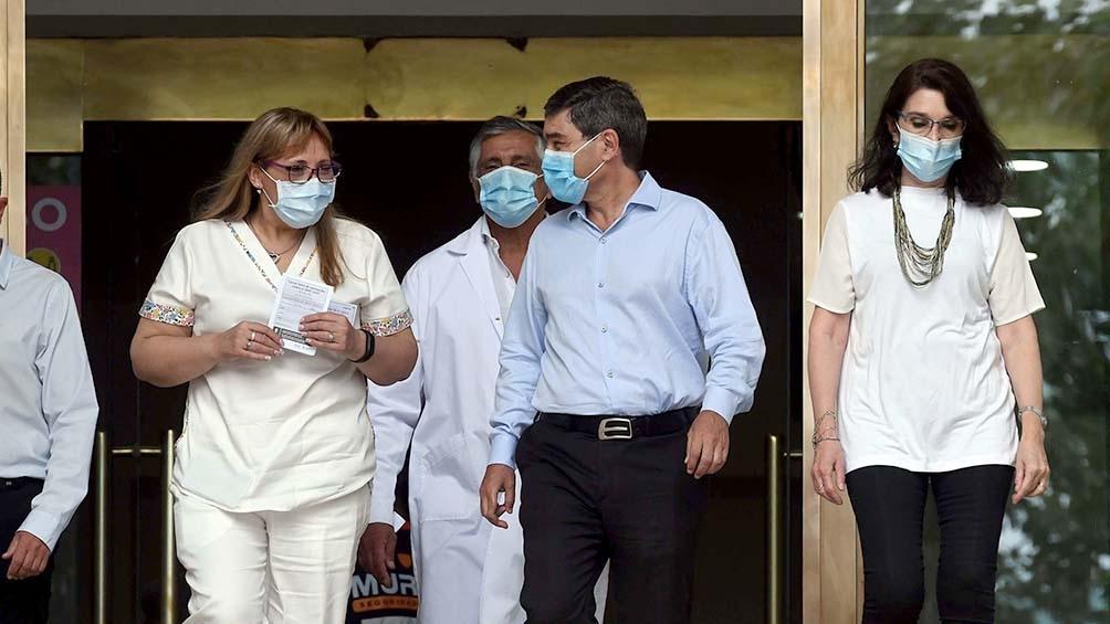 Quirós habló esta mañana poco antes de que comenzará la campaña de vacunación en el Hospital Argerich.
