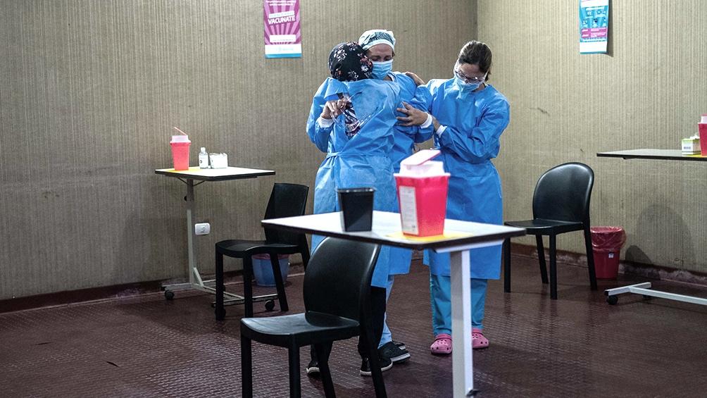 El inicio de la campaña de vacunación en Mar del Plata