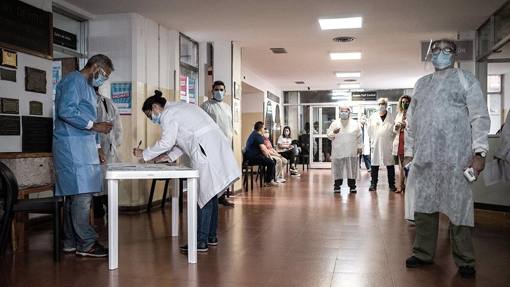 La campaña de vacunación en Mar del Plata.