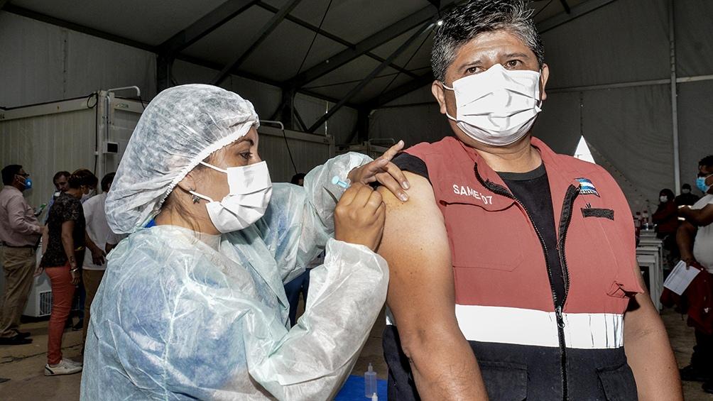 El inicio del plan de vacunación en Jujuy.