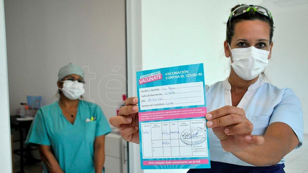 Una enfermera de La Plata, la primera persona que recibió la vacuna contra el coronavirus