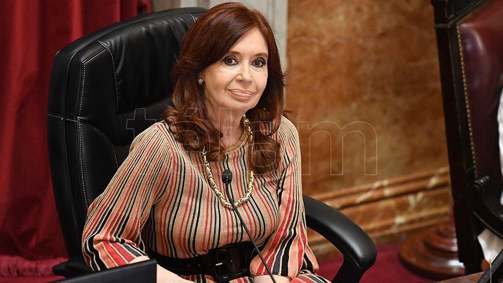 Cristina Fernández de Kirchner, la presidenta de la cámara.