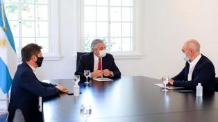 Preocupados por el aumento de casos, Fernández, Kicillof y Larreta se reunieron en Olivos
