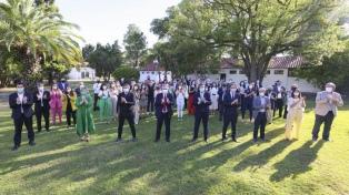 Fernández brindó con diputados del Frente de Todos y pidió por la reforma judicial