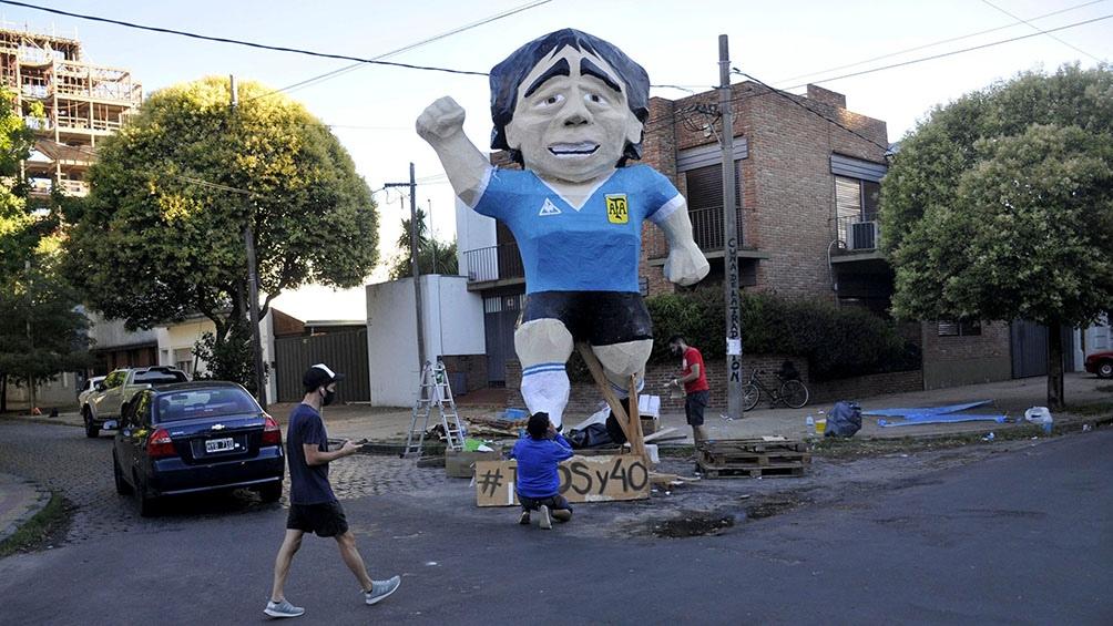 Diego Armando Maradona fue el personaje más elegido para la tradicional quema