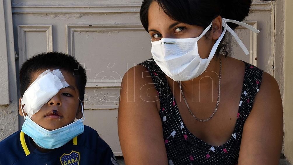 Rocío Molina, quien llegó a la guardia junto a su hijo tras haber sido atacado por un perro.