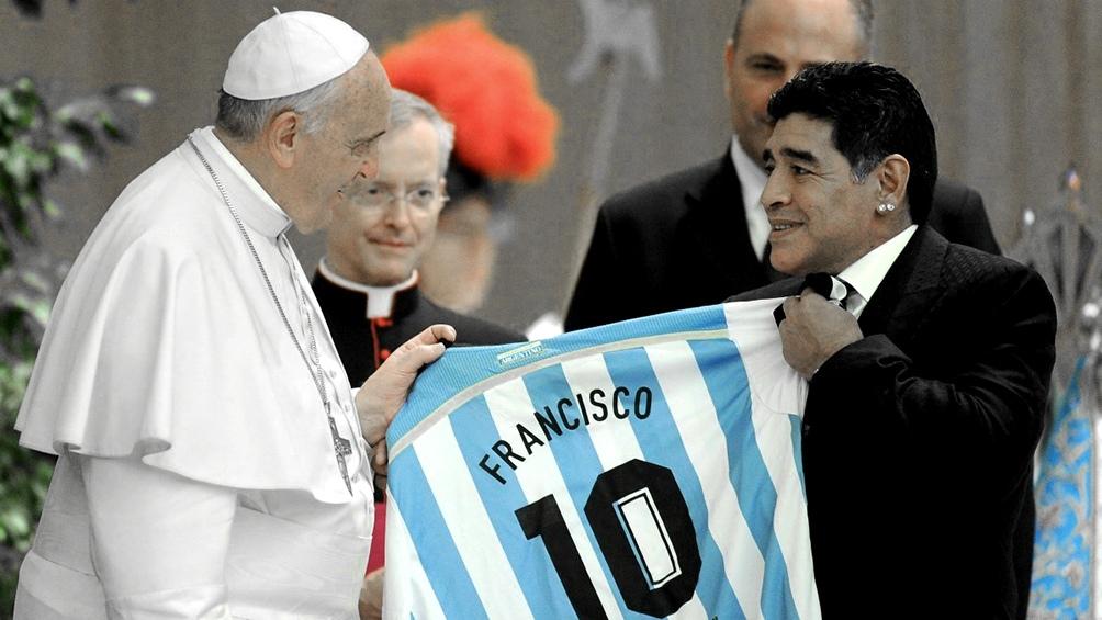 Francisco y Maradona, el orgullo de que sean argentinos.