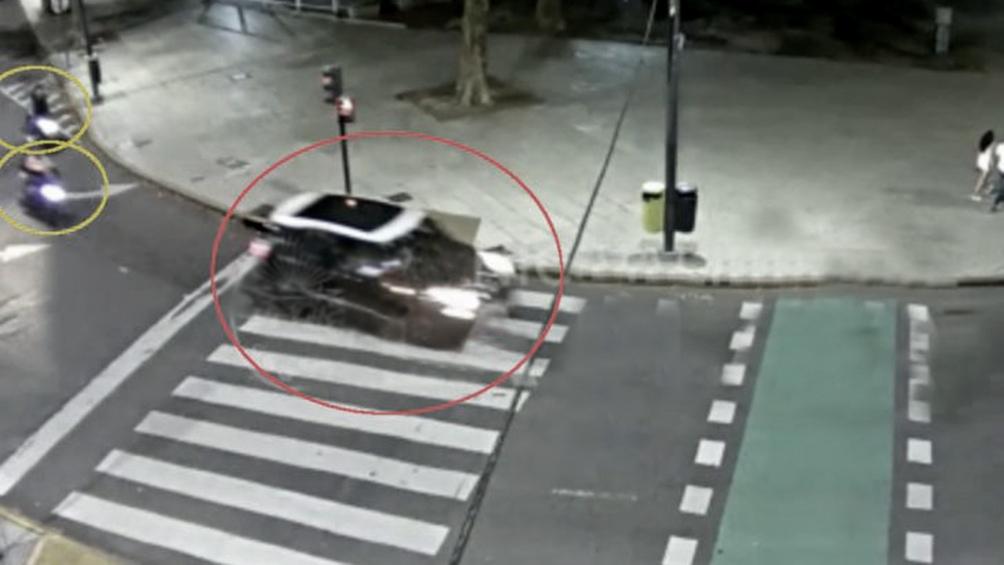 Una imagen del momento del incidente.