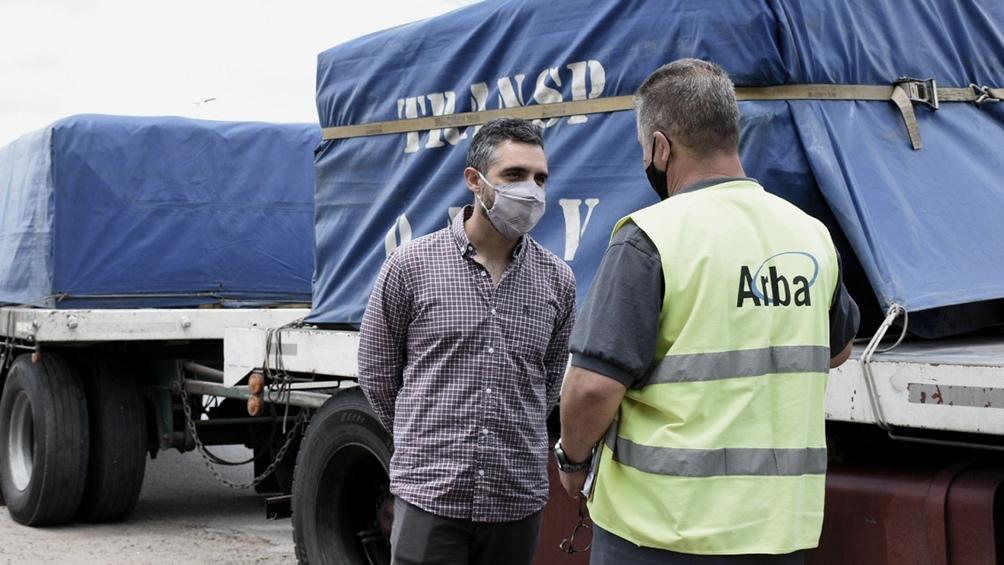 ARBA realiza controles de mercadería en tránsito