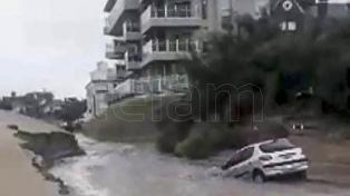 Continúa el mal tiempo en la costa tras el temporal que dejó heridos leves y anegamientos
