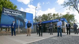 Inauguraron la remodelada estación Villa Adelina del tren Belgrano Norte