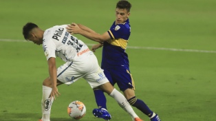 Boca empató sin goles con Santos y el pase a la final de la Libertadores quedó abierto
