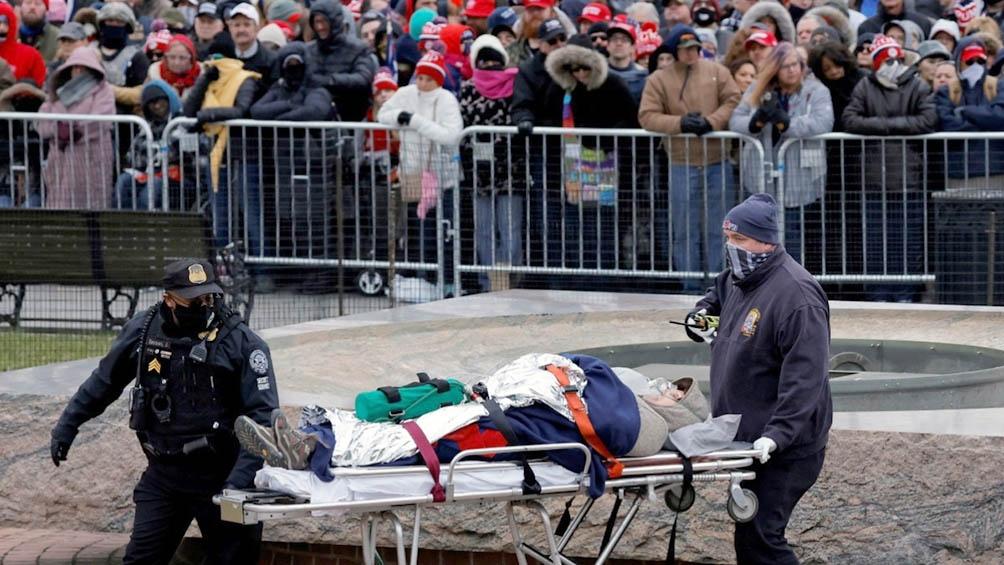 Simpatizantes de Trump avanzaran sobre el exiguo cerco policial