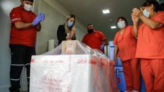 La llegada de las vacunas a la provincia de La Pampa.