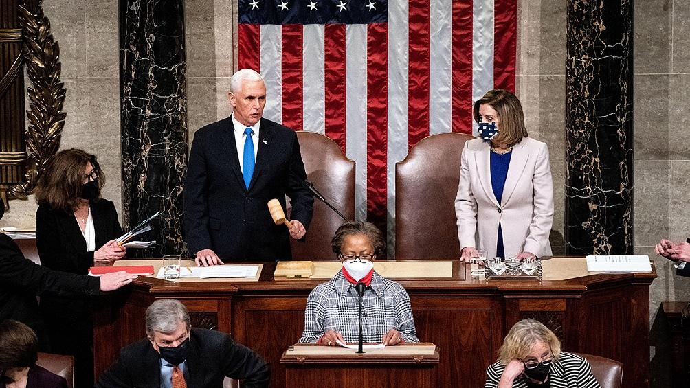 El Congreso ratificó a Joe Biden como ganador de los comicios