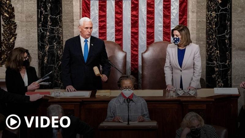 Tras los disturbios, el Congreso de EEUU certifica finalmente la victoria electoral de Biden