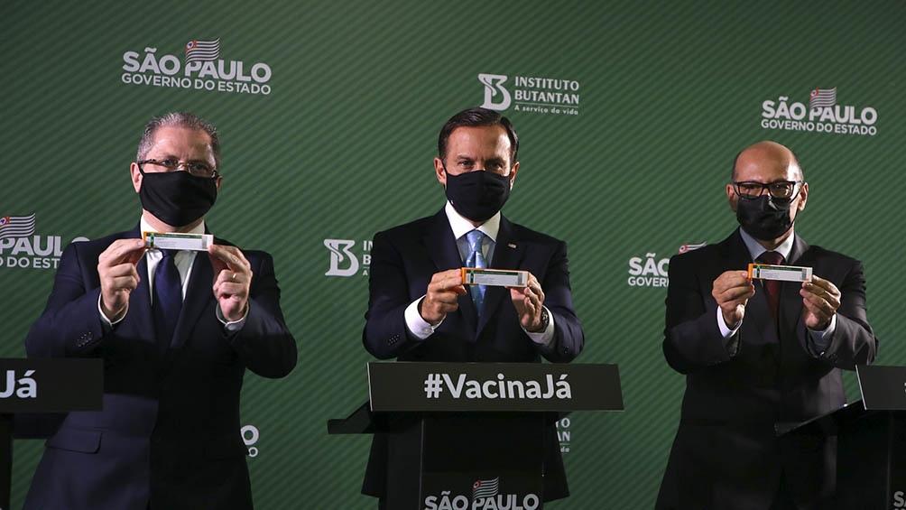 El gobernador de San Pablo ganó popularidad con la masiva campaña de vacunación