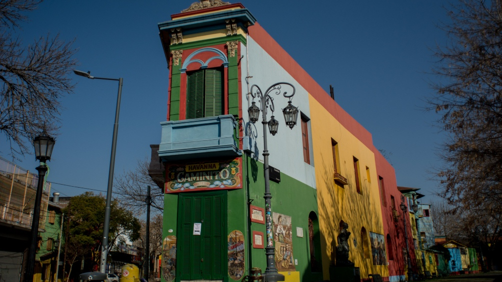 Caminito, otro atractivo de la zona de La Boca.