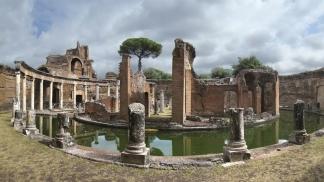 La villa de Tívoli, que el emperador Adriano hizo construir para su descanso.